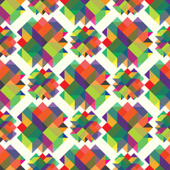 beautiful colored cubes on a light background vector illustration