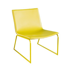 yellow chair isolated on white