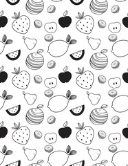 fruit Seamless Patterns