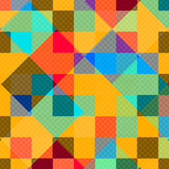 abstract geometric background colored polygons vector illustration