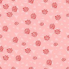 Seamless background pattern of roses. Roses vector.