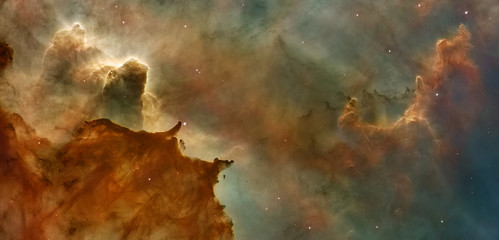 Star Birth in the Carina Nebula (also known as the Grand Nebula)