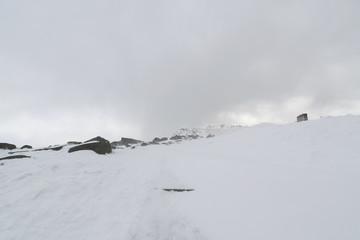 Bihoro pass in winter, Hokkaido, Japan.