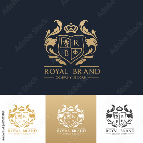 Luxury Royal Crest Logo Template Design For Hotel And Fashion Brand Identity