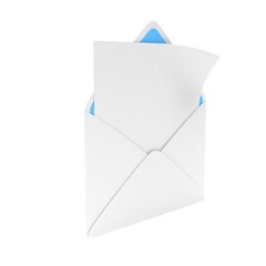 open mail with white blank