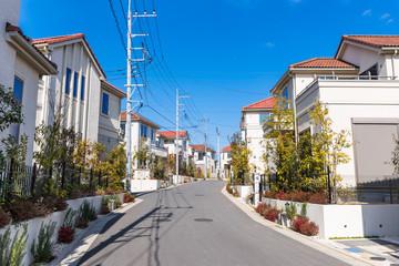 郊外の分譲住宅地