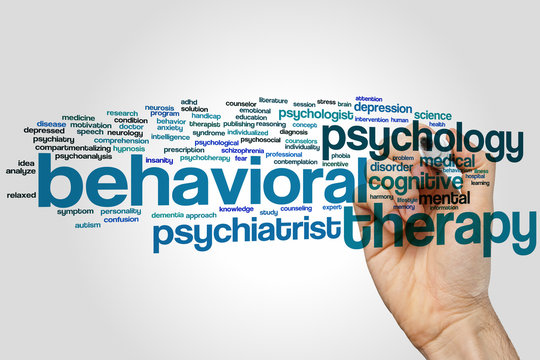 Behavioral therapy word cloud