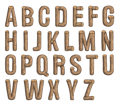 Painted wood font