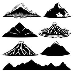 Mountain icons.