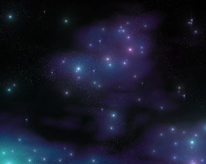 starry sky, night sky, the galaxy in the cosmos, the stars in the galaxy