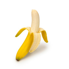 A Banana on a white background