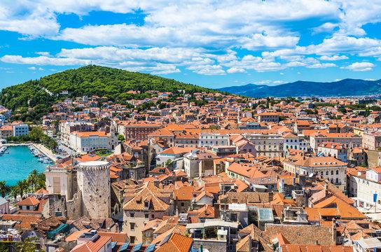 Split panoramic view, Dalmatia, Croatia.
