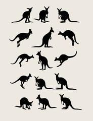 Kangaroo Silhouettes, art vector design