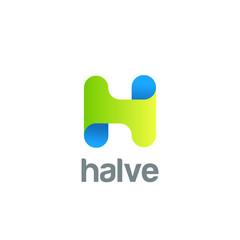 Creative Letter H Logo design vector. ABC Typeface Logotype