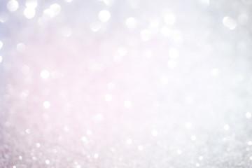 Silver white glittering Christmas lights.