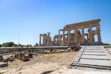 Aphaia temple on Aegina island, Greece