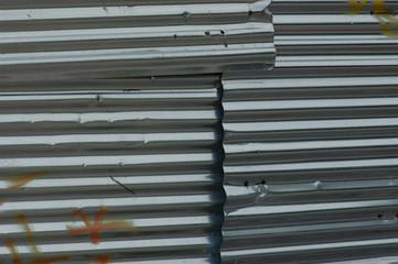 corrugated aluminum background
