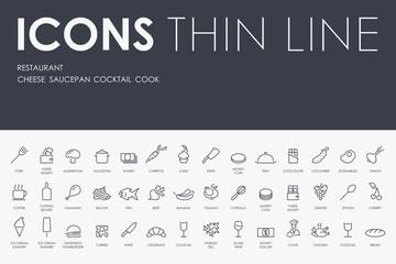 restaurant Thin Line Icons