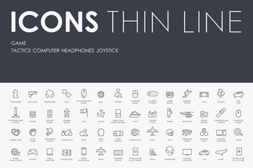 gaming Thin Line Icons