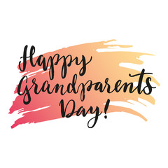 Happy grandparents day lettering.