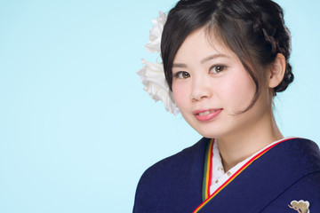 Young Japanese Girl in Kimono