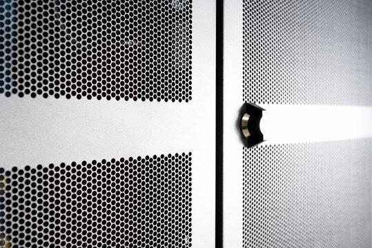 rack server door close up