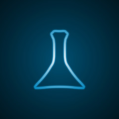 Laboratory flask, blue background