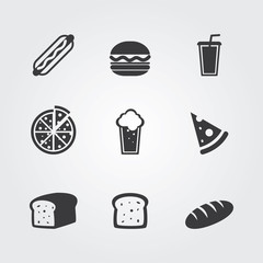 Food icons set. Template elements for web and mobile applications