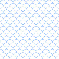 Abstract blue and white seamless wave pattern. Vector illustrati