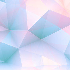 Abstract positive 3 d polygonal background