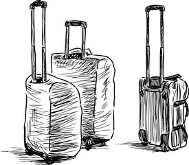 suitcases sketch