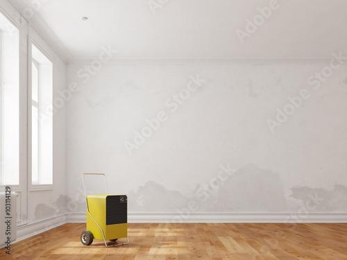 bautrockner im haus nach wasserschaden stockfotos und lizenzfreie bilder auf. Black Bedroom Furniture Sets. Home Design Ideas