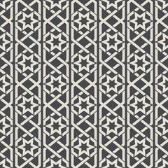 Wall Mural - Seamless abstract ornamental pattern in Arabic style. Background seamless, arabic pattern, decoration textile pattern. Vector illustration