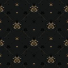 Wall Mural - Luxury vintage background for elegant design. Background vintage, pattern decoration seamless. Vector illustration