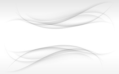 Abstract white waves. Vector illustration