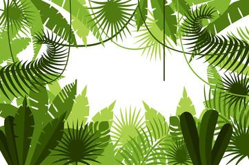 frame. jungle. vector illustration