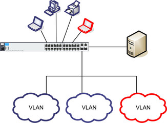 Netzwerk Diagramm Illustration