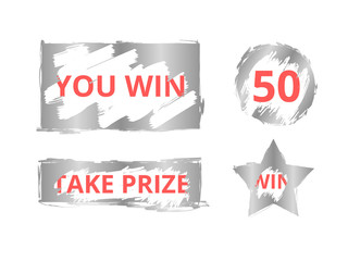 Scratch card game and win.