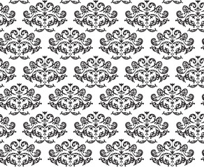 Beautiful baroque vintage floral seamless pattern - brown and nude classic background