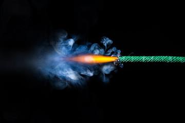 Fuse is burning. Dynamite Fuse