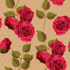 Vintage roses seamless