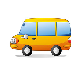 Yellow bus.
