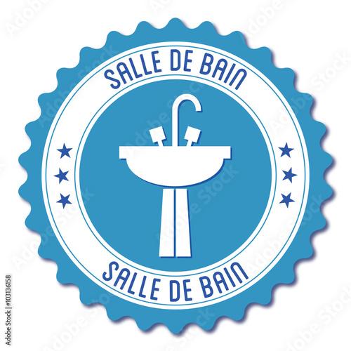 logo salle de bain fichier vectoriel libre de droits