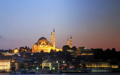 Rustem pasha mosque at night,Istanbul,Turkey.