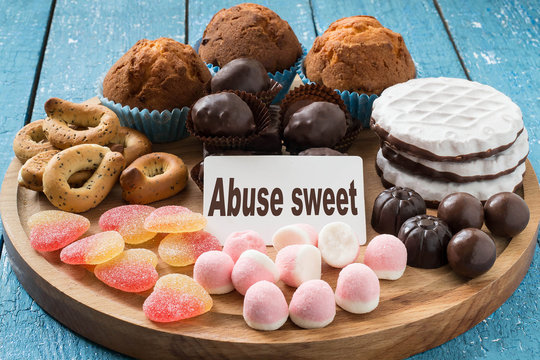 Different types of sweet foods