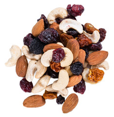 Trail Mix isolated on white