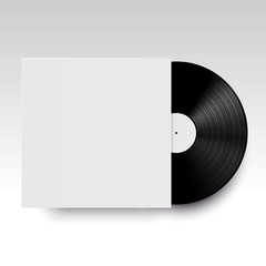 Vector isolated vinyl disc with its cover.