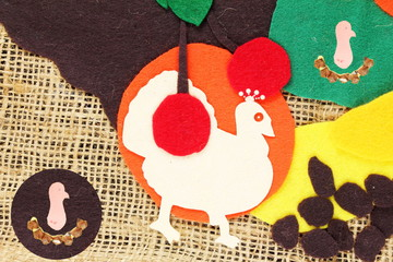colorful craft art cartoon of turkey bird for Happy Thanksgiving