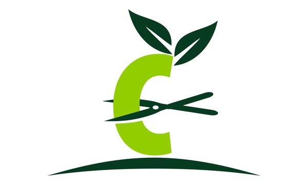 Letter C Lawn Logo