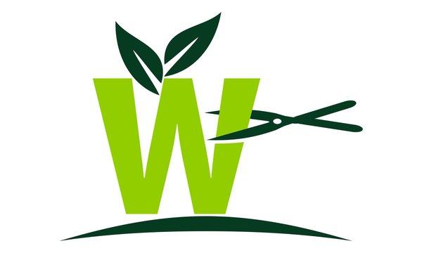 Letter W Lawn Logo